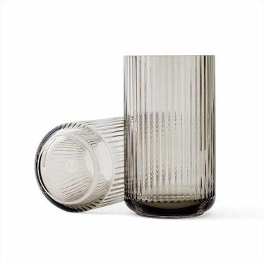 Lyngby Porcelaen Glass vase - smoke