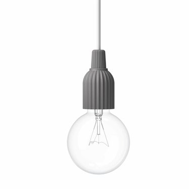Lyngby Porcelaen Hanglamp LP Fitting #01 - Dark Grey