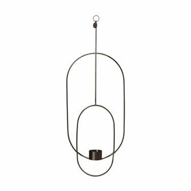 Ferm Living Hanging Tealight Deco - Oval - black