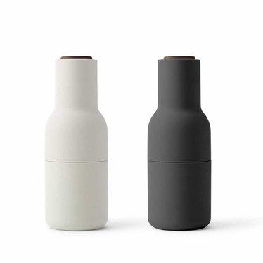 Menu Bottle Grinder - Ash-Carbon-walnut cap, 2-pack