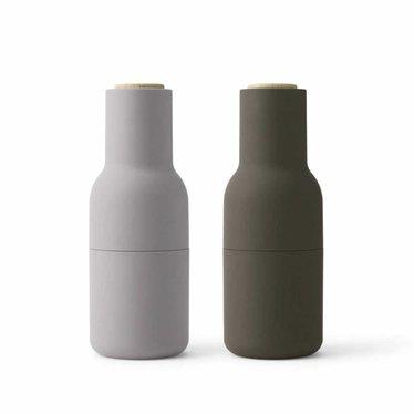 Menu pepper and salt mills Bottle Grinder - Hunting Green-Beige, 2-pack