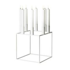 By Lassen candleholder Kubus 8 white