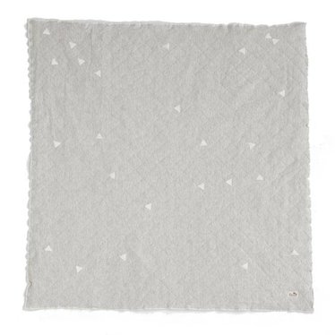 Ferm Living Quilted blanket Teepee light grey