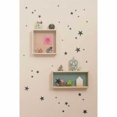Ferm Living muurstickers Mini Stars sterren zwart