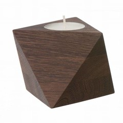 Ferm Living theelichthouder Cube smoked oak