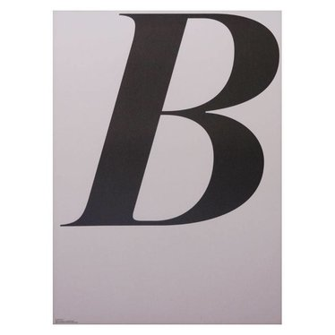 Playtype ABCD poster - B (70x100)