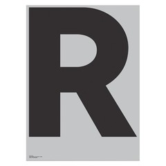 Playtype Grey poster - R