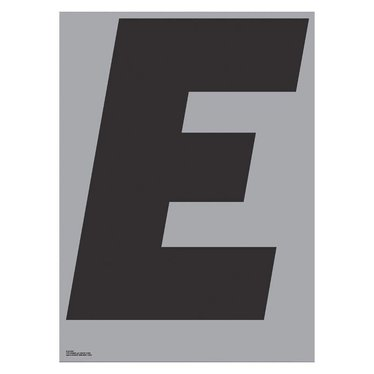 Playtype Grey poster - E (70x100)