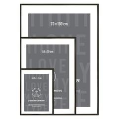 I Love My Type frame aluminum-black (various sizes)