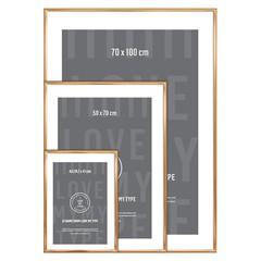 I Love My Type wissellijst aluminium-koper 70x100 cm
