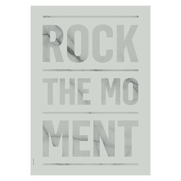 I Love My Type Poster Rock the Moment, green (A3)