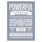 I Love My Type poster Powerful lavendelblauw A3