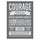I Love My Type poster Courage grijs 50x70