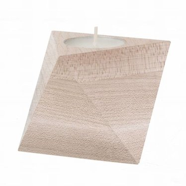 Ferm Living Tea light holder Cube maple