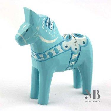Grannas A. Olsson Dala horse Baby blue