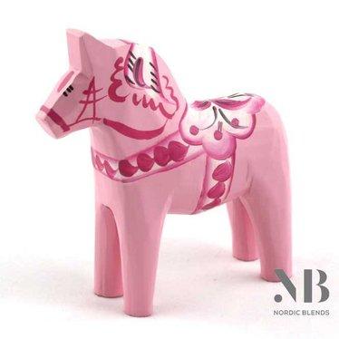 Grannas A. Olsson Dala horse Baby pink 13 cm