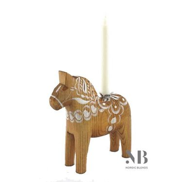 Grannas A. Olsson Gingerbread Dala horse with candle