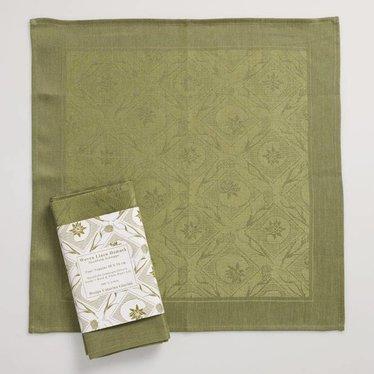 Giarimi Design Stockholm Schnapps linnen servetten groen, 4 stuks