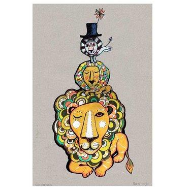 Sofie Børsting Poster Lion - A4