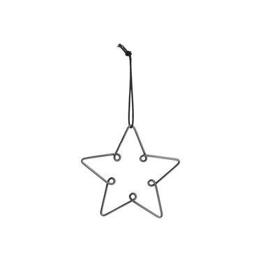 Louise Roe Star ornament gun metal maat M