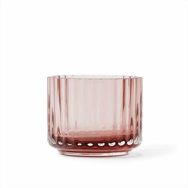 Lyngby Porcelaen Tealight holder glass - Burgundy