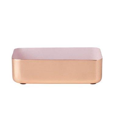 Louise Roe Metal tray rechthoekig maat M koper-rose