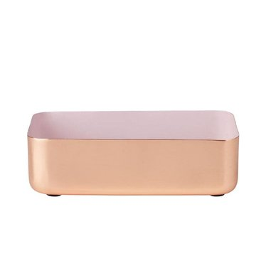 Louise Roe Metal tray rectangular size M copper-rose