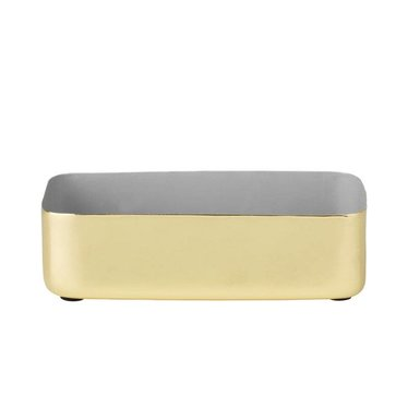 Louise Roe Metal tray rectangular size M brass-gray
