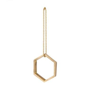 Ferm Living Brass ornament Hexagon