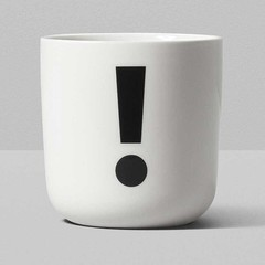 Playtype porcelain mug with punctuation mark