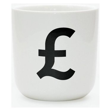Playtype Porcelain mug with currency