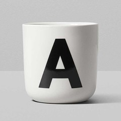 Playtype porcelain mug with letter (A to P)