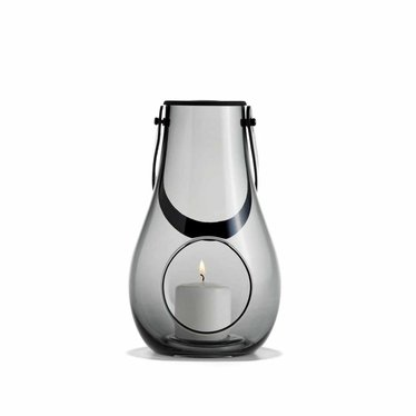 Holmegaard Design with Light lantaarn smoke glas 25 cm