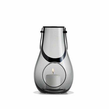 Holmegaard Design with Light lantern smoke glass 25 cm