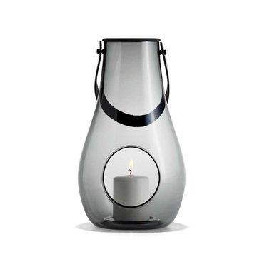 Holmegaard Design with Light lantern smoke glass 29 cm