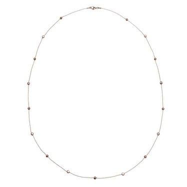 Edblad lange halsketting Dew koper