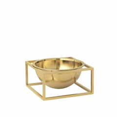 By Lassen Kubus Bowl Centerpiece small brass