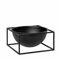 By Lassen Kubus Bowl Centerpiece groot zwart
