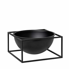 By Lassen Kubus Bowl Centerpiece large black