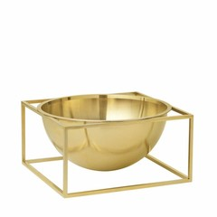 By Lassen Kubus Bowl Centerpiece large brass