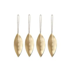 Ferm Living Leaf messing ornament-set van 4