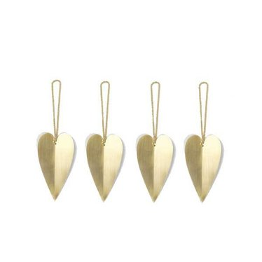 Ferm Living Heart brass ornament-set of 4