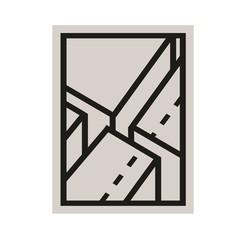Edblad Poster Javea 3 klei-zwart