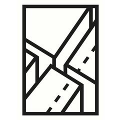 Edblad poster Javea 3 zwart-wit