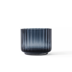 Lyngby Porcelaen tealight holder glass - blue