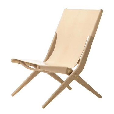 By Lassen Lounge chair Saxe natural oak - natural leather