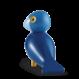 Kay Bojesen houten vogel Songbird Kay Blauw