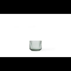 Lyngby Porcelaen tealight holder glass - copenhagen green