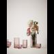 Lyngby Porcelaen Theelichthouder glas - Burgundy