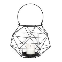 Hubsch black metal wire lantern